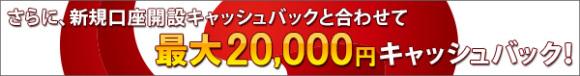 最大20,000円キャッシュバック