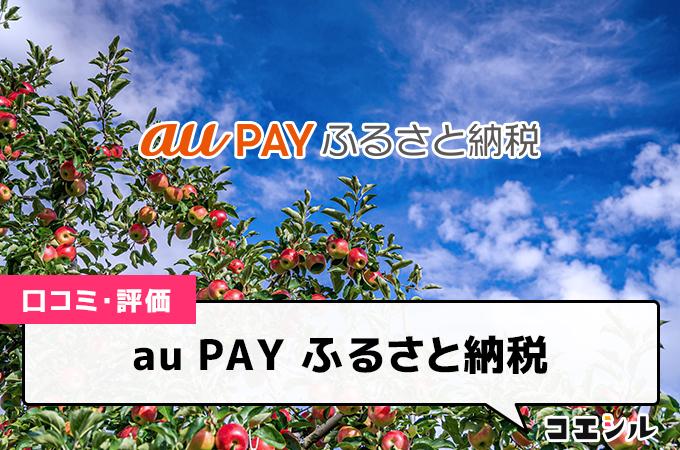 au PAY ふるさと納税の口コミと評判