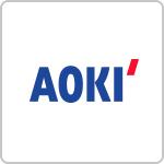 ダブル抗菌・洗えるクールマスク AOKI